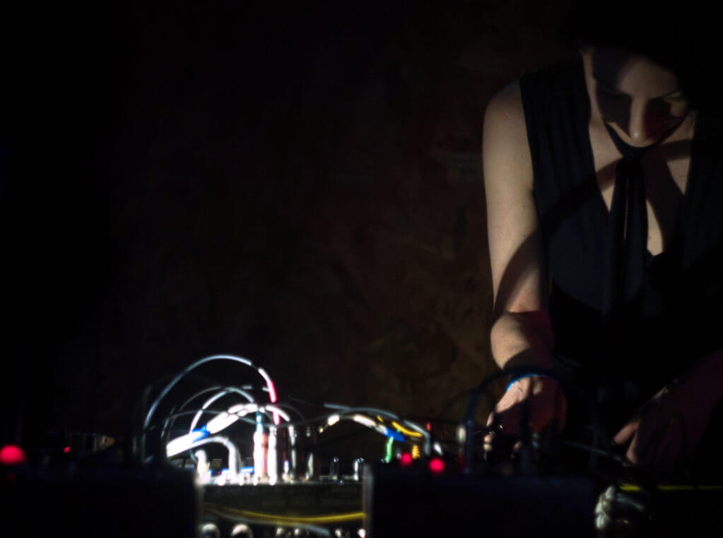 Antenes performing live at Apex Movement in Denver, Colorado for Great American Techno Festival 2015. Photo by Alena Dubavaya